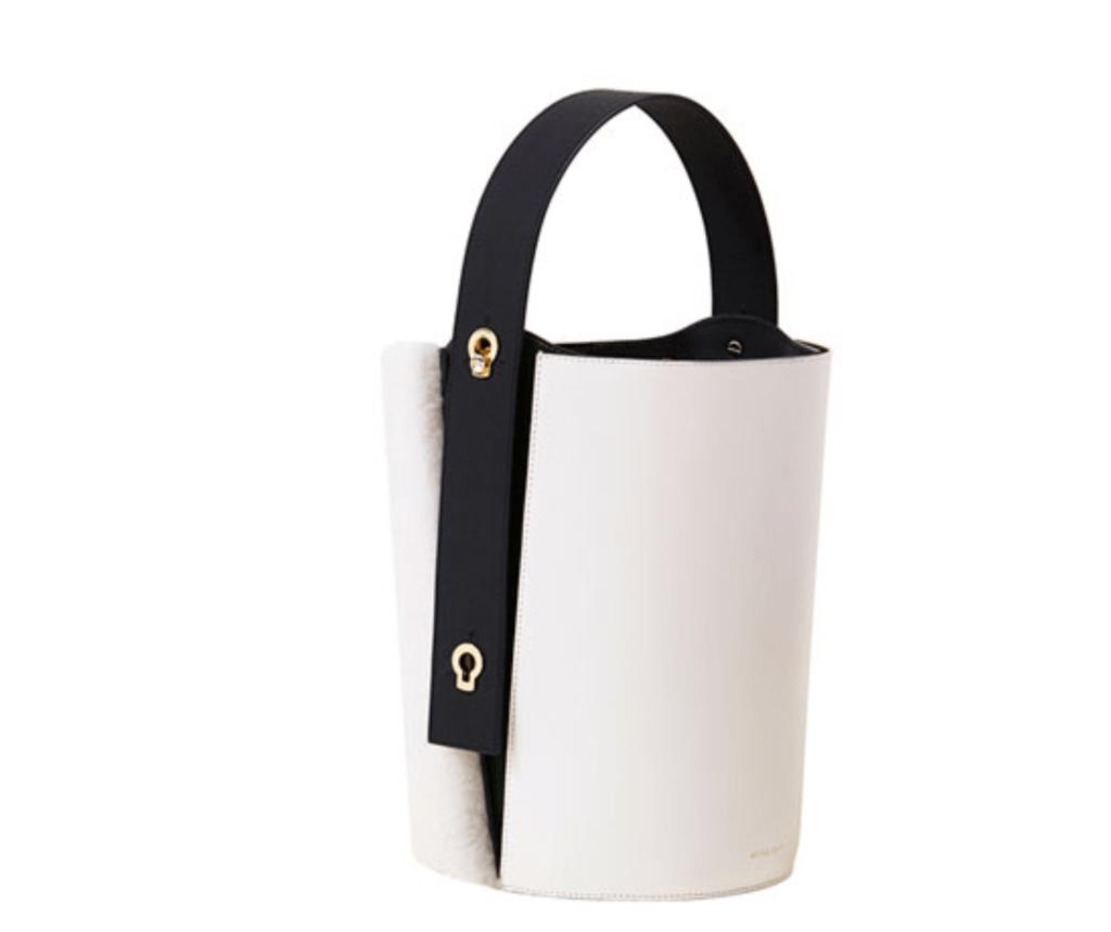 Danse Lente curly shearling mini lorna hobo luxury handbag