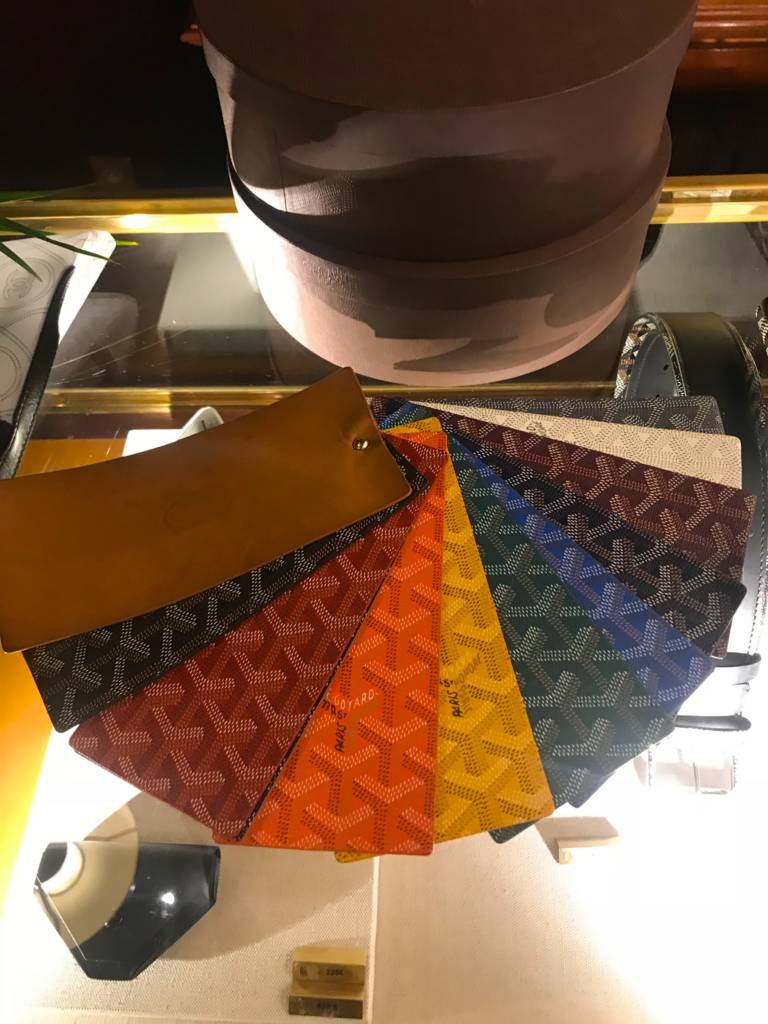 goyard colors available for totes saint louis artois