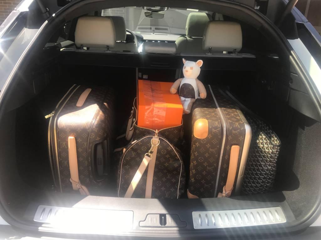 goyard artois tote contents mm black Louis vuitton luggage