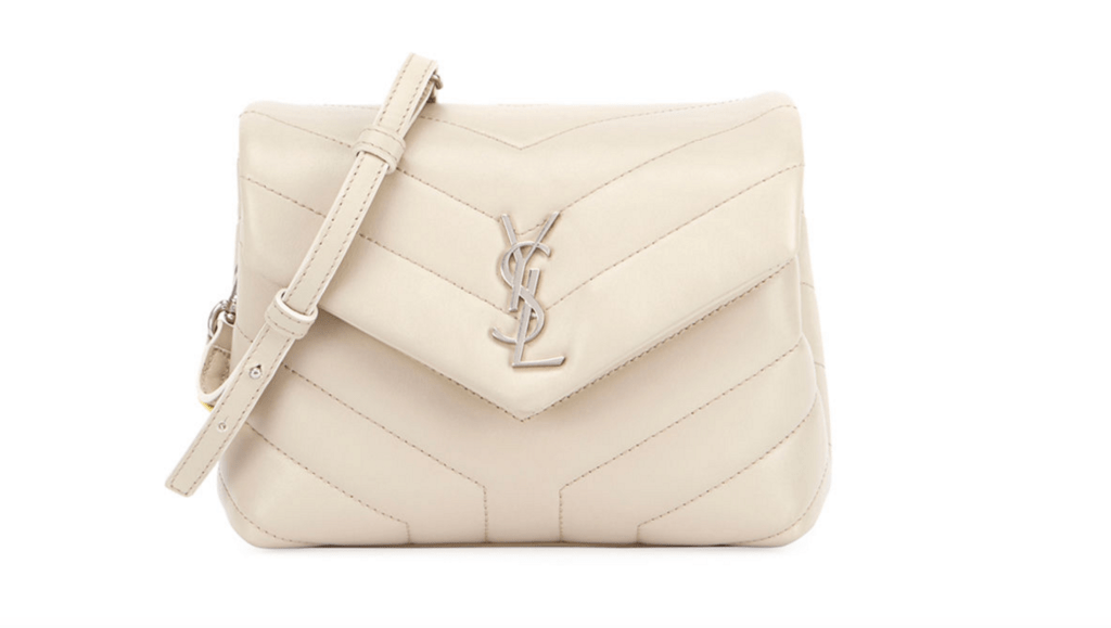 YSL Yves Saint Laurent Loulou Monogram Mini V-Flap Calf Leather Crossbody Bag luxury handbag