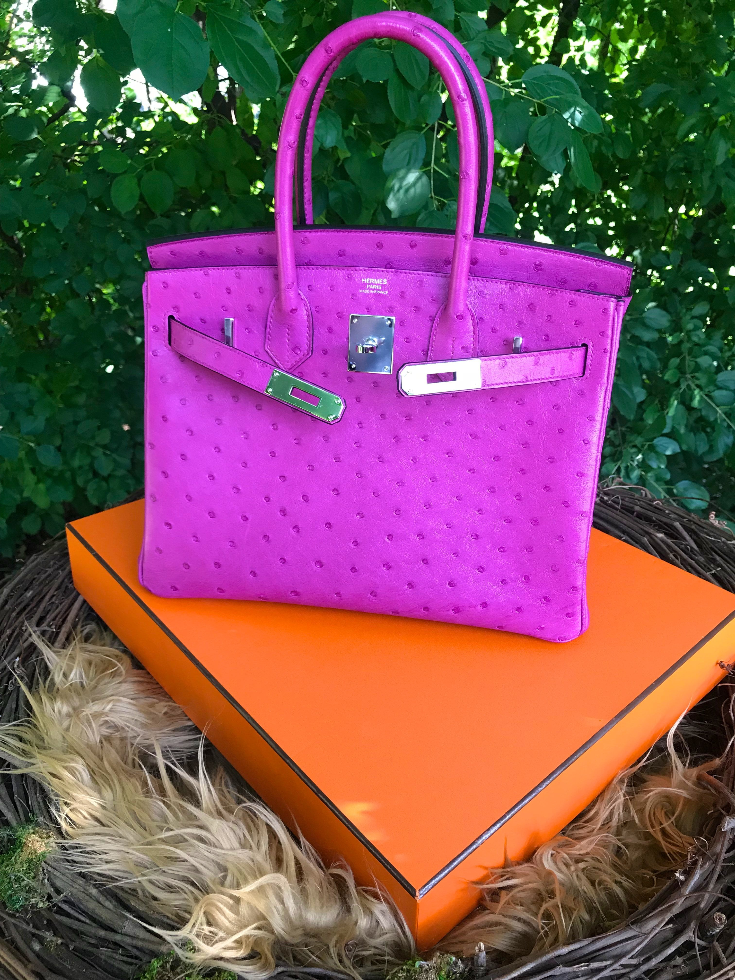 c957b1c8bba Hermes Rose Pourpre Ostrich birkin 30 pursebop birthday baggie hermes fsh  hermes ostrich