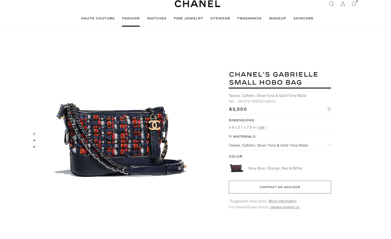 d40eb73575a7 Gabrielle prices spiked on chanel.com. $300-$400 (or roughly 8-10%) per bag.  And we have the proof. Upon hearing that another increase was coming, ...