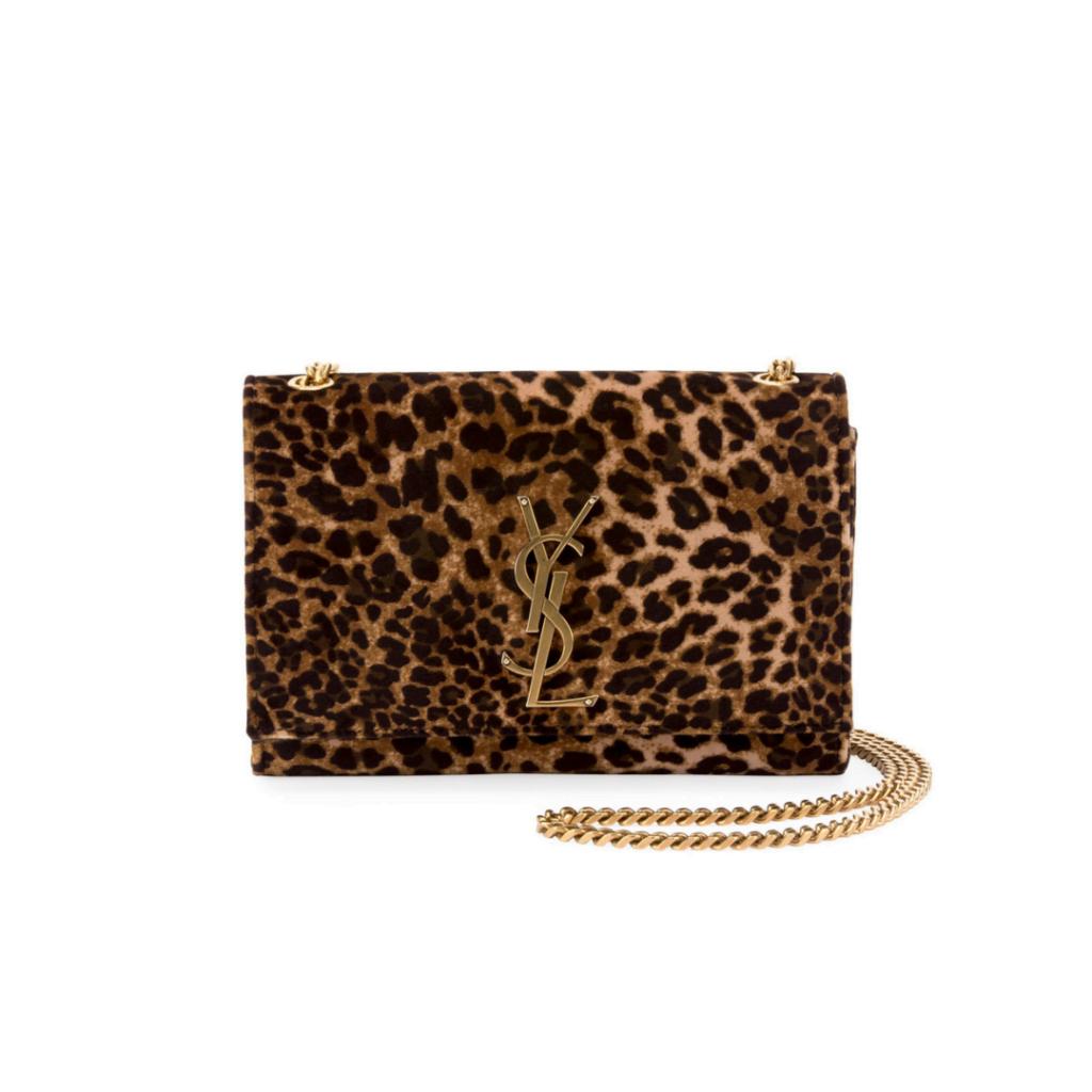 b362ba6b5372 Saint Laurent Kate Monogram YSL Small Leopard-Print Velvet Crossbody Bag  via Neiman Marcus