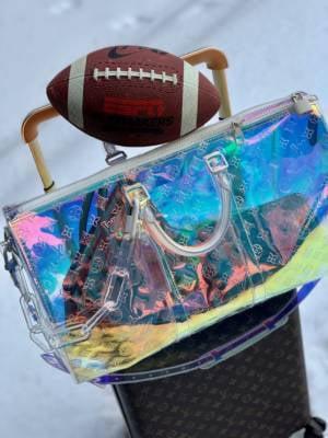 Louis Vuitton prism keepall, keepall 50, LV keepall, virgil abloh
