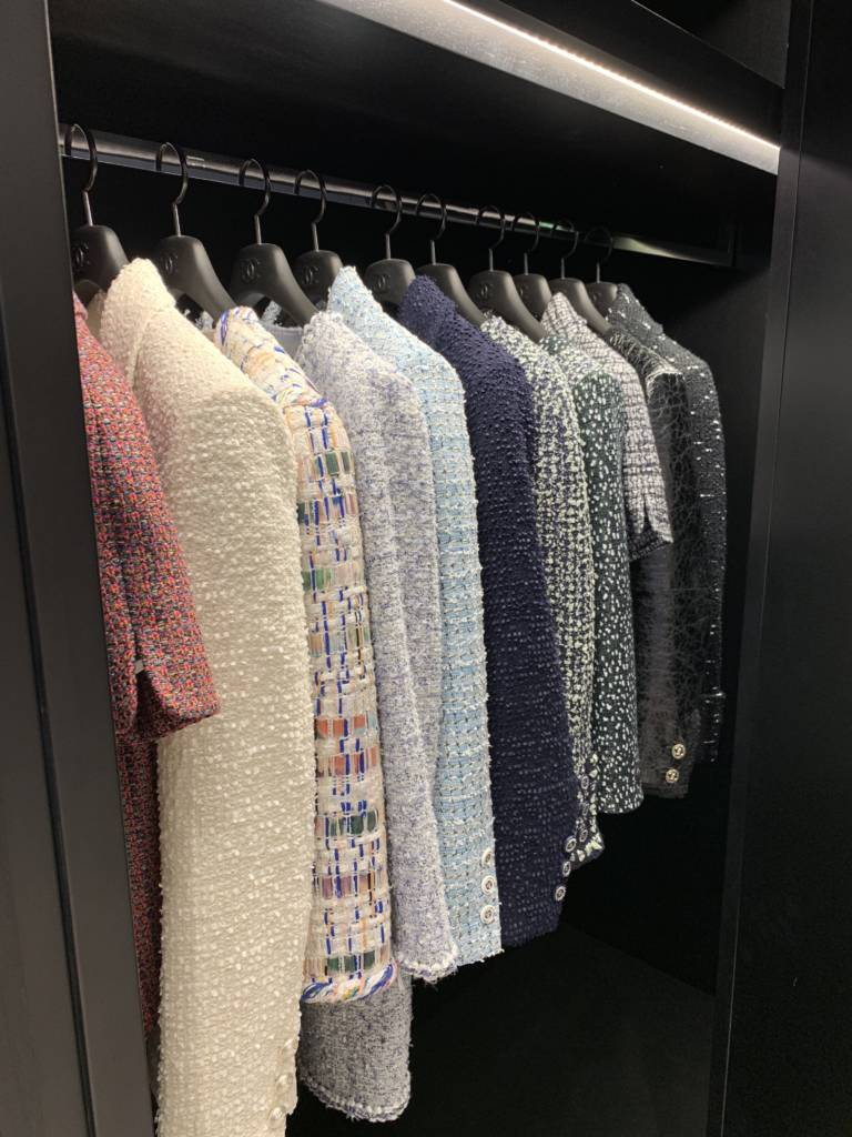 Chanel chicago new store opening jackets
