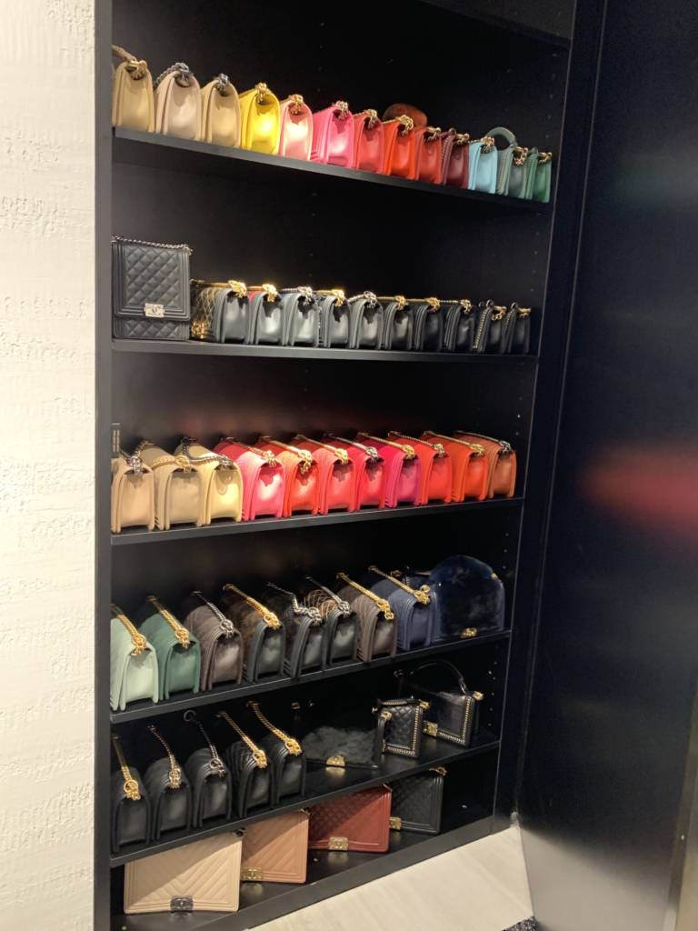 Chanel chicago new store opening Chanel Boy Handle lizard
