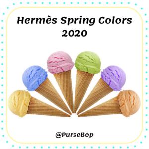 hermes spring 2020 colors, hermes bleu brume, hermes vert criquet, hermes nata, hermes foin