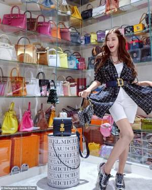 Jamie Chua Hermes collection birkins kellys video @ec24m