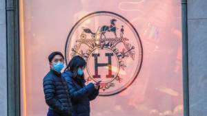 Hermès store in Guangzhou, China.