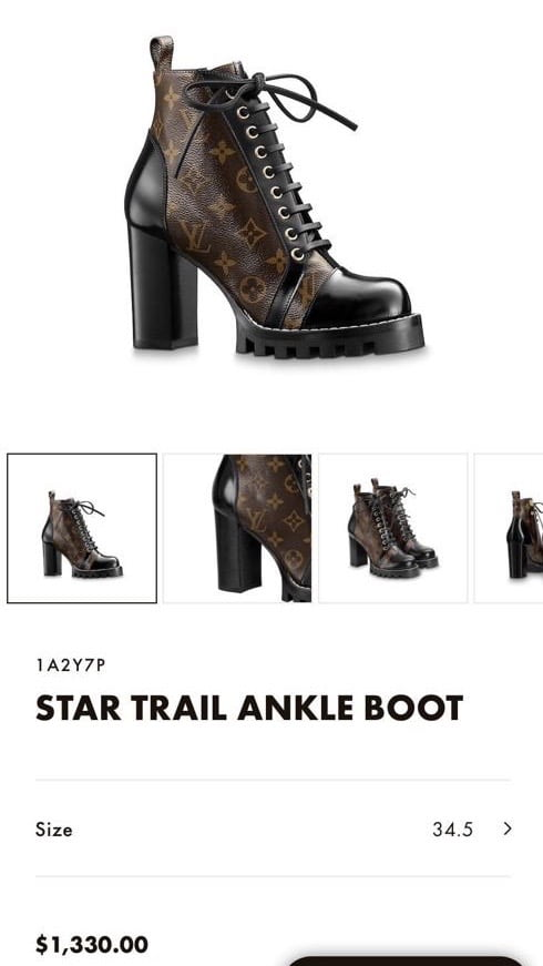 Louis Vuitton Star Trail Ankle Boot 2019 Price