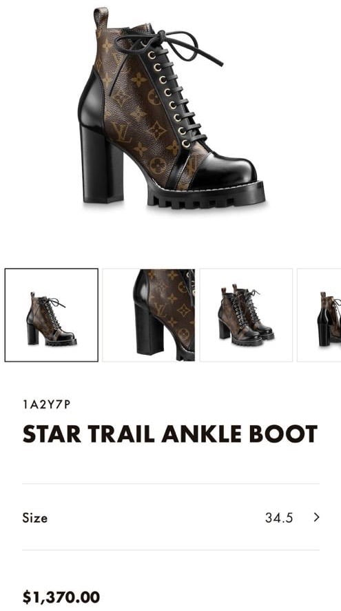 Louis Vuitton Star Trail Ankle Boot 2020 Price