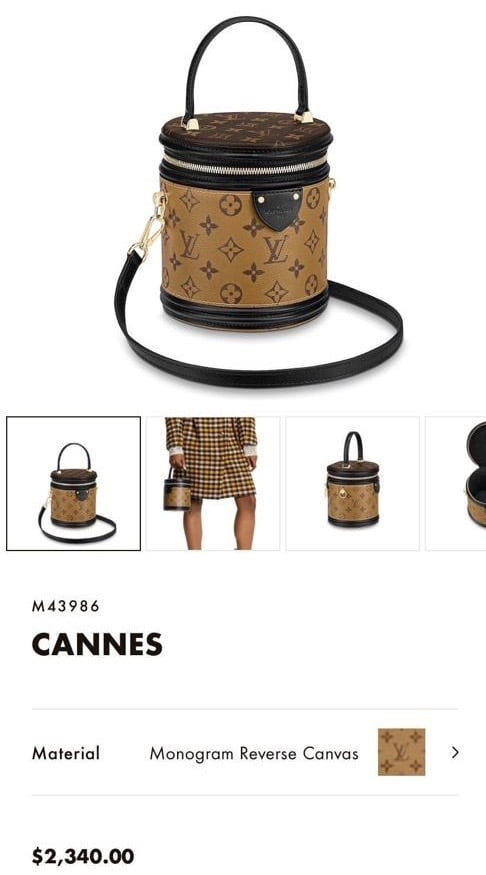 Louis Vuitton Cannes 2019 Price