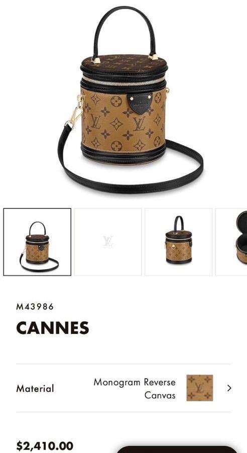 Louis Vuitton Cannes 2020 Price