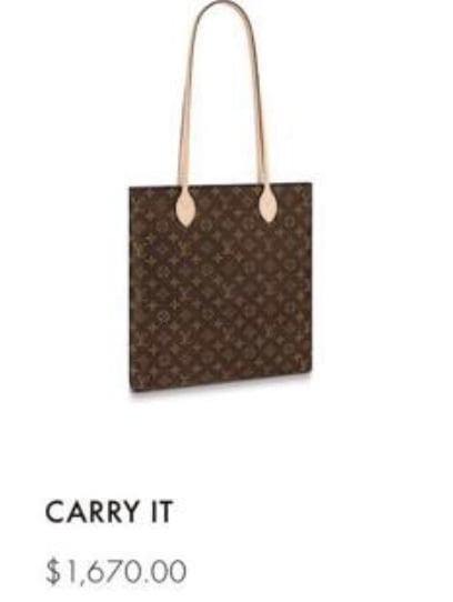 Louis Vuitton Carry It 2019 Price