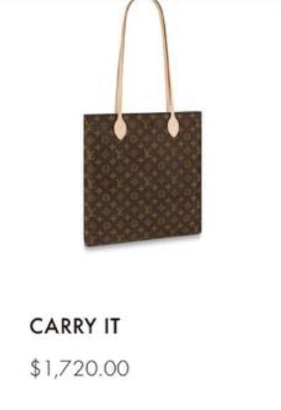 Louis Vuitton Carry It 2020 Price