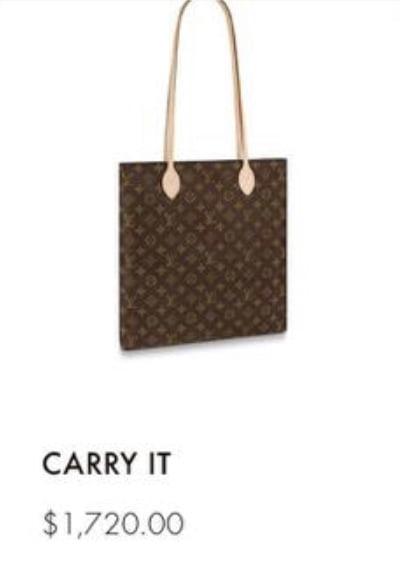 Louis Vuitton Carry It 2020 Price
