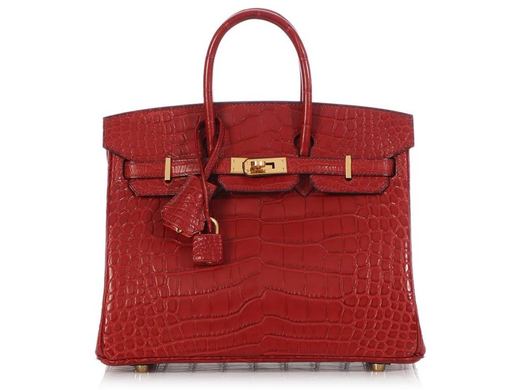 Hermès resellers stock includes a Rouge Matte Alligator