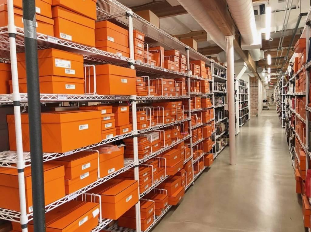 Hermès resellers storage room