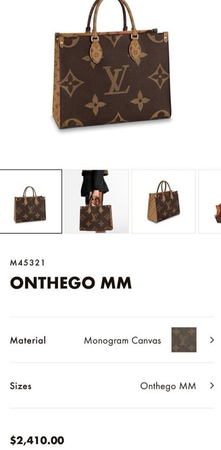 Louis Vuitton On The Go EW 2020 Price