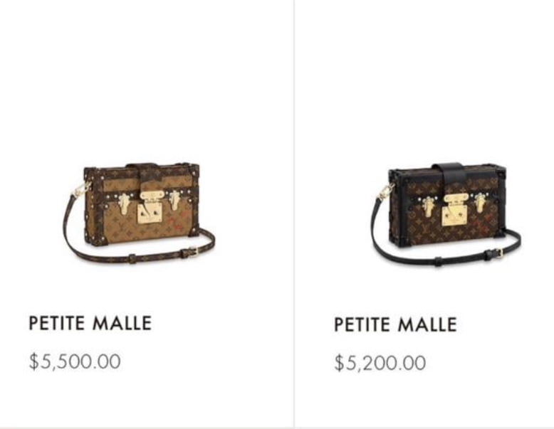 Louis Vuitton Petite Malle 2019 Price