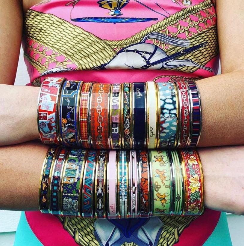 Hermès enamel bracelet on wishlist