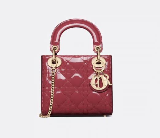 Red Patent Leather Lady Dior