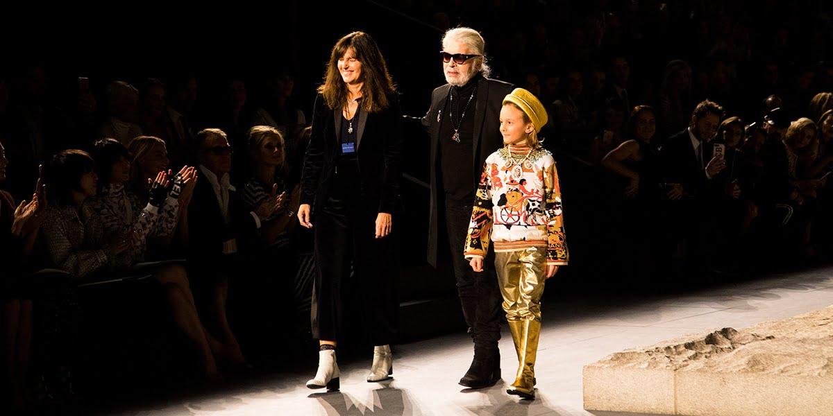 Virginie Viard and Karl Lagerfield