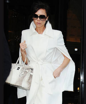 Victoria Beckham with Diamond Himalaya Birkin