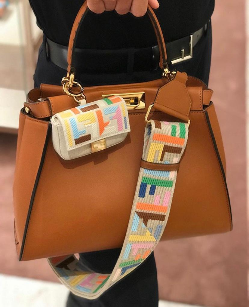 Fendi Peekaboo leather