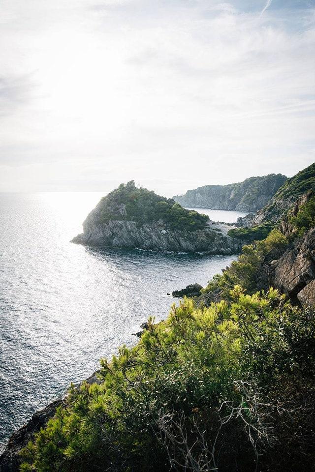 Views of the Porquerolles coastline