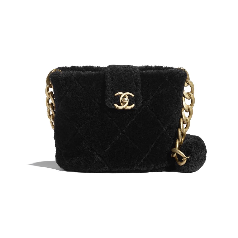 Chanel Shearling Bucket Bag