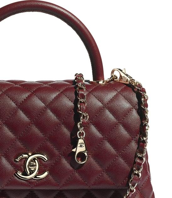 Chanel grained lambskin Coco Handle