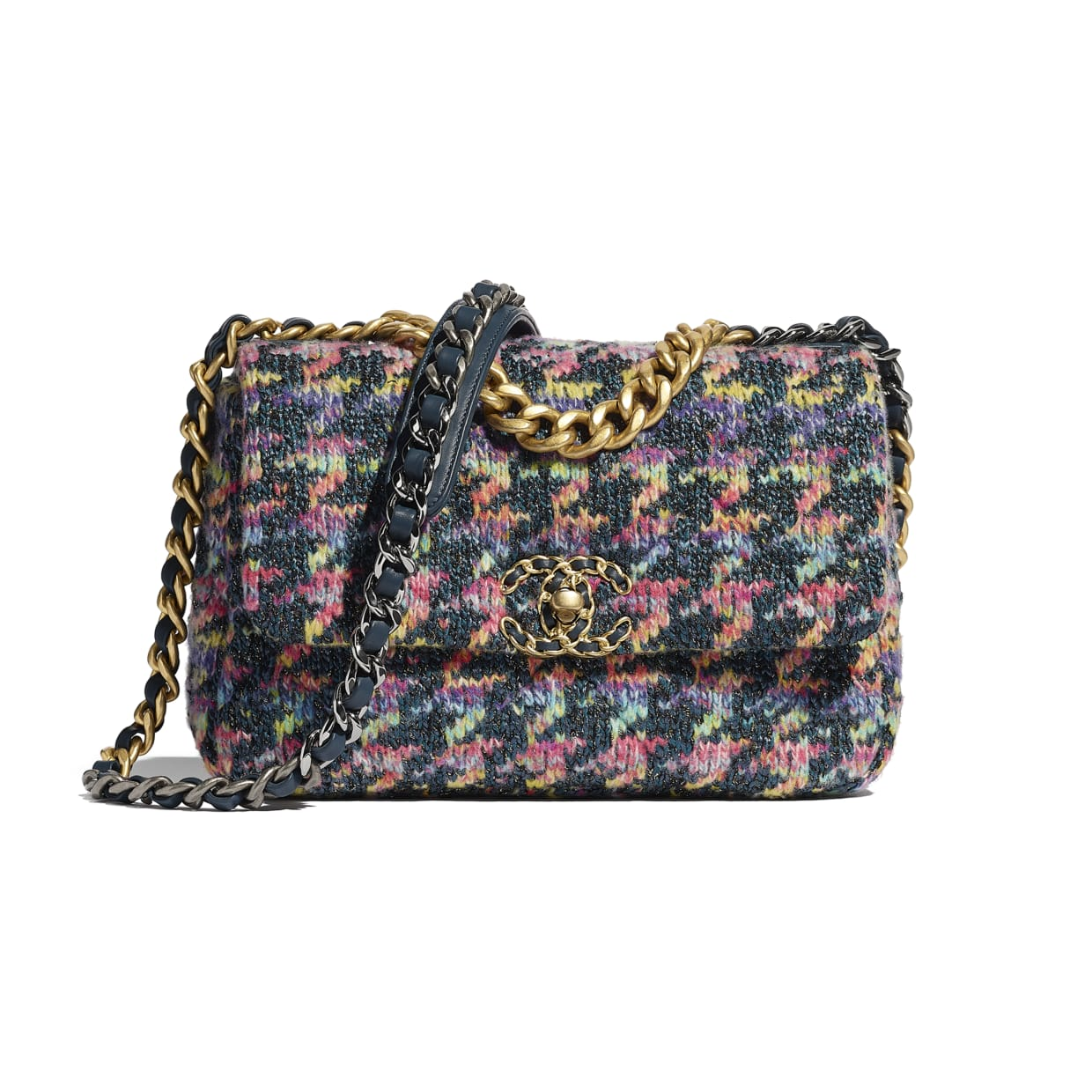 Multicolored tweed Chanel 19