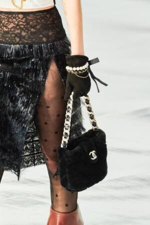 Shearling Bucket Bag by Chanel