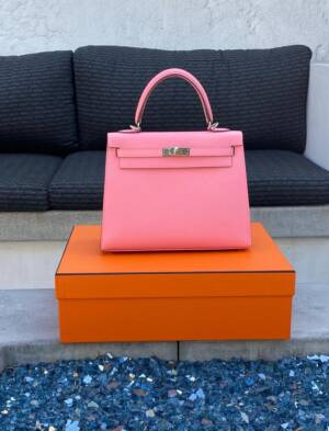 My First Kelly 25 Sellier hermes rose confett epsomi
