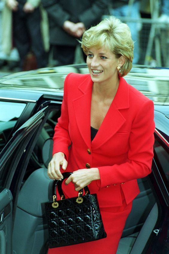 Lady Diana With Lady Dior Bag