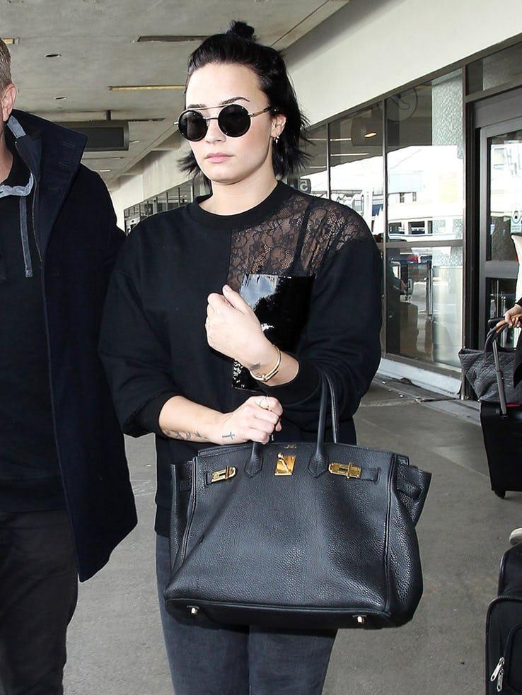 Demi Lovato with Birkin 35