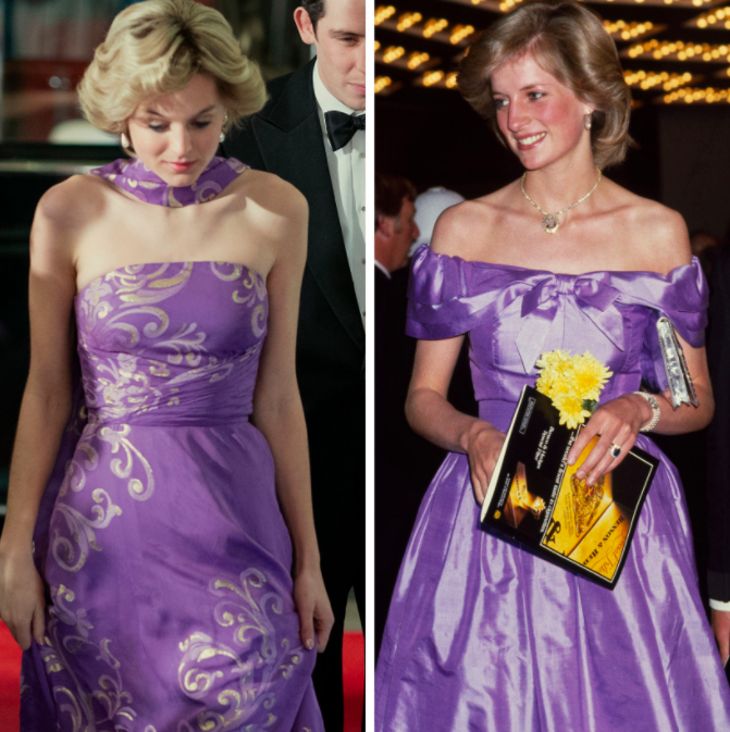 Lady Diana Style in The Crown
