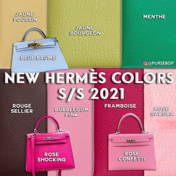 hermes new colors 2021 hermes spring summer colors 2021